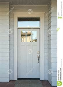 white front door closed white front door stock images image 34794554