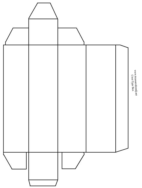 templates for boxes with lids 5 best images of printable box template with lid