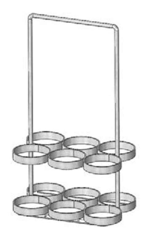 Cylinder Rack by 6 Ml6 Oxygen Cylinder Rack W Milkman Handle
