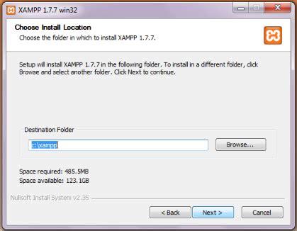 tutorial membuat website menggunakan xp tunggulah beberapa saat sai proses instalasi selesai