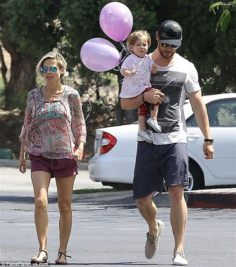 Chris hemsworth s wife elsa pataky back in shorts for fun family day just three weeks after