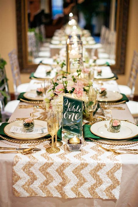 Table Settings For Weddings Gold Table Settings Wanderlust Weddings