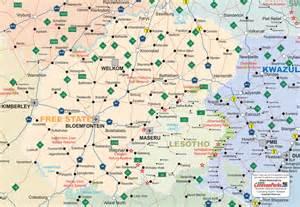 free state map caravanparks maps caravan parks
