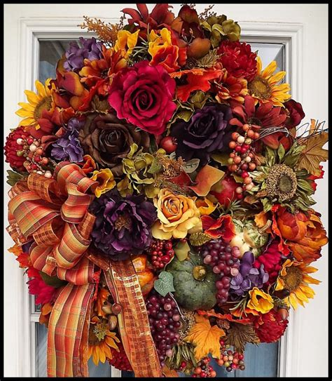 Handmade Fall Wreaths - 20 inviting handmade autumn wreath designs for your home