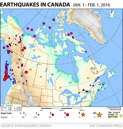 earthquake zones in canada 265 earthquakes have been recorded in canada so far this