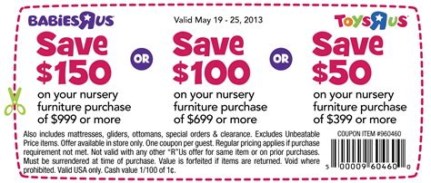 babies r us coupon 2013 hundreds nursery furniture