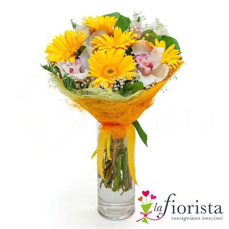 fiore di orchidea vendita bouquet gerbere gialle e fiori di orchidea