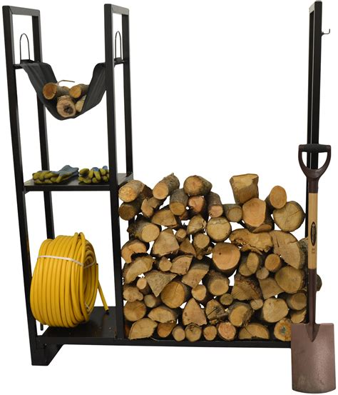 Outdoor Wood Rack by Utility Firewood Log Storage Stand Outdoor Wood Burner Kindling Holder Rack