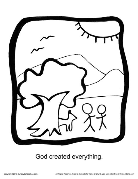 God Created Everything Coloring Pages