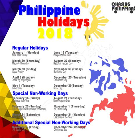 2018 Calendar Philippines With Holidays 2018 Calendar Philippines Merry And
