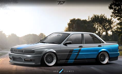 nissan sunny 1990 tuning virtual tuning by ark llanes