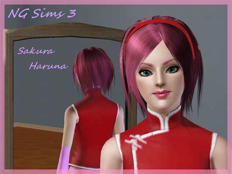 sims 3 anime hair ng sims 3 my anime sims sakura haruna