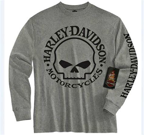 Harley Davidson Skull T Shirts by Harley Davidson 174 Boys Grey Sleeve T Shirt Willie G