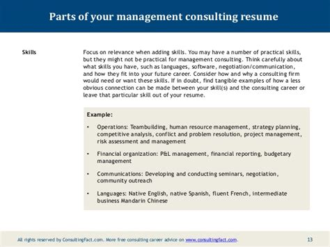 sle management consulting resume 28 images hr
