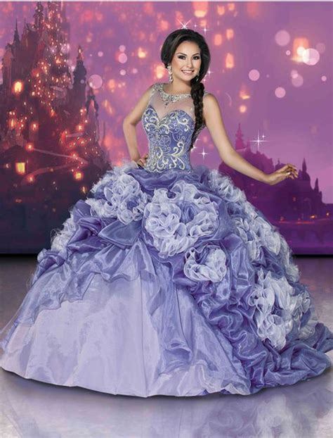 tangled theme prom disney royal ball quinceanera dresses quinceanera