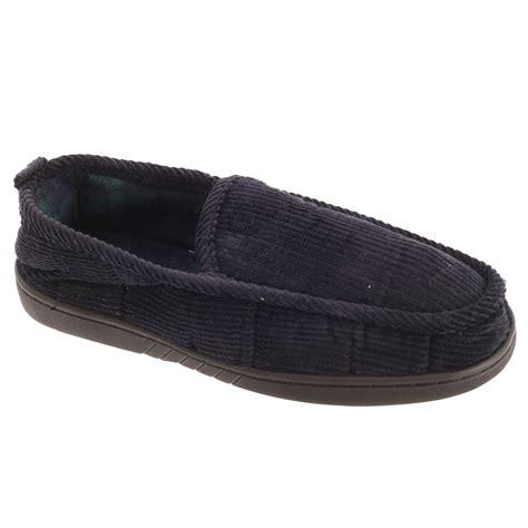 slumberzz mens fleece lined cord slippers ebay