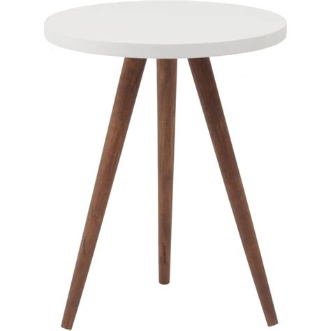 White Side Tables Buy Three Leg Wooden And White Side Table From Fusion Living