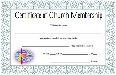 free church membership card template 13 sle membership certificate templates sle templates