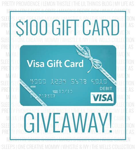 How Do Visa E Gift Cards Work - 100 visa card giveaway whistle and ivy