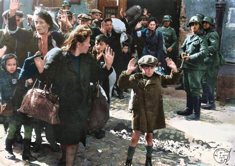 history in color colorizing history colorized holocaust warsaw