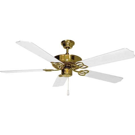 polished brass ceiling fans filament design lenor 52 in polished brass indoor ceiling