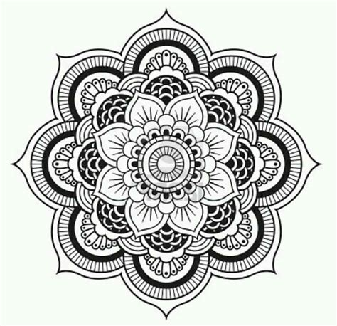 pattern mandala drawing flower drawings 42 amazing designs images with color