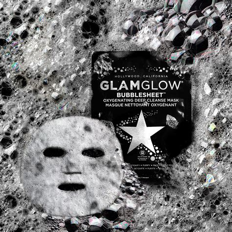 Glamglow Detox Mask by Glamglow Bubblesheet Oxygenating Cleanse Mask News