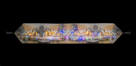 snowtime battery operated fibre optic tapestry 12 x 72