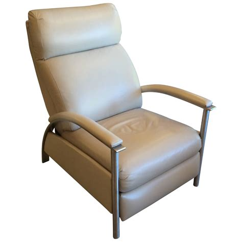 recliner chair sleek leather reclining chair at 1stdibs