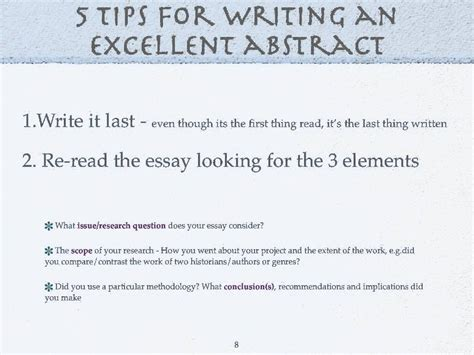 How To Do Abstract How To Write An Excellent Extended Essay Abstract