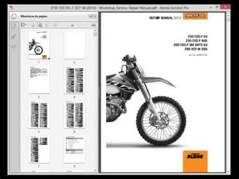 Ktm 250 Exc F Xcf W 2014 Service Manual Wiring