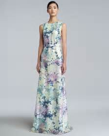 print dress erdem floral print dress in green lyst