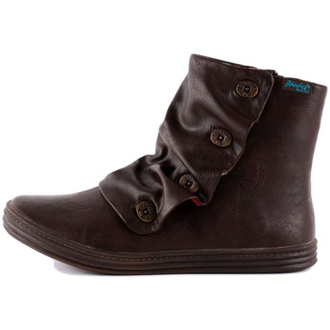 blowfish rabbit womens synthetic leather boots in chocolate