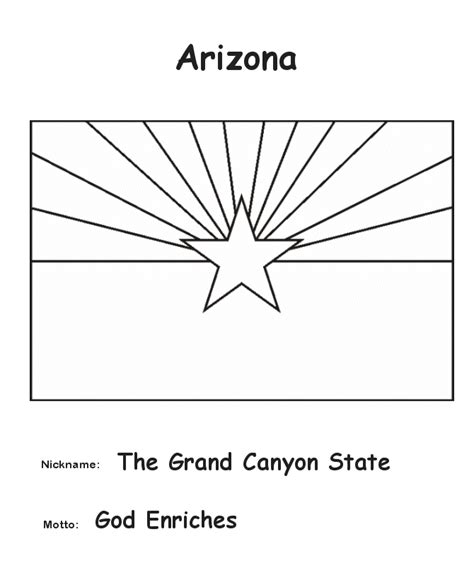 usa printables arizona state flag state of arizona