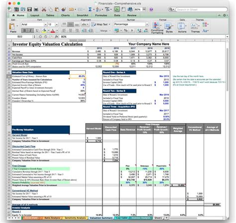 Business Plan Financial Model Template Bizplanbuilder Project Financial Plan Excel Template