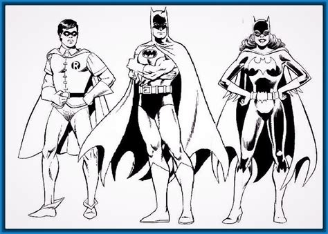 dibujos para colorear batman robin batgirl y batman para imprimir dibujos para colorear de batman y spiderman archivos