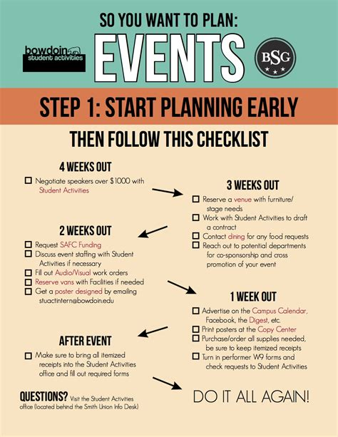 event planning bowdoin student government