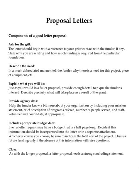 sle formal proposal letter 7 exle in pdf word