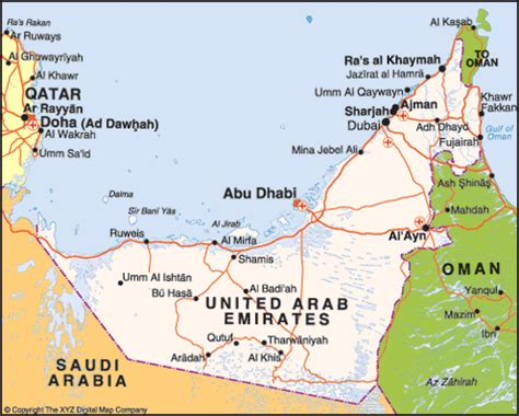 uae maps and directions map of united arab emirates informed comment
