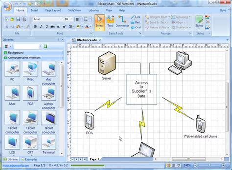 good home network design visio compatible software