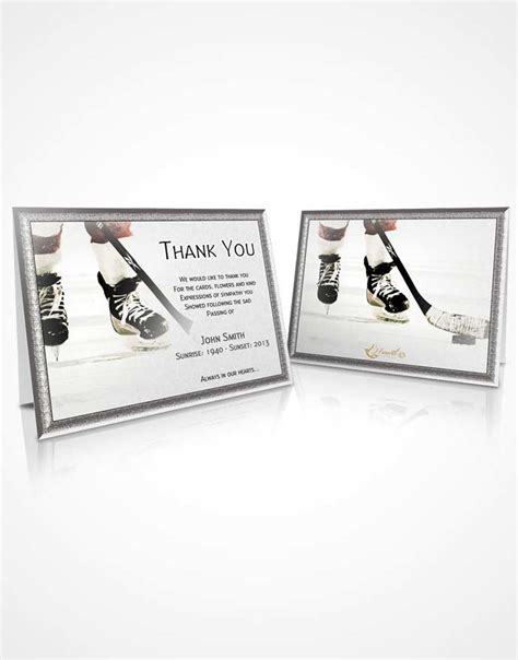 hockey thank you card template beautiful customizable sympathy thank you card hockey 02