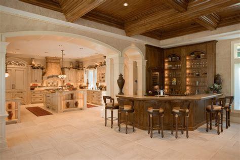 Granite Topped Kitchen Island by French Colonial Style Kitchen Mediterranean Kitchen