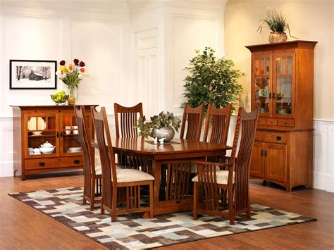 mission dining room new classic mission dining room amish furniture designed