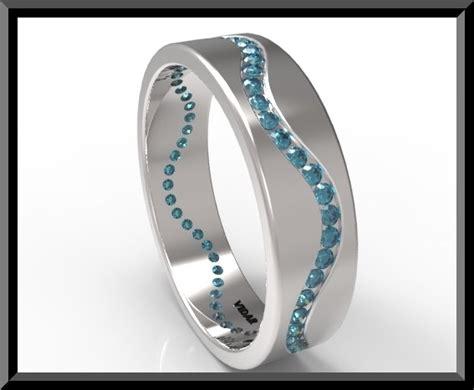 mens blue wedding band vidar jewelry unique
