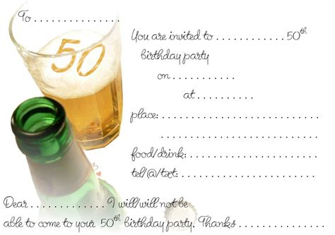 Free Printable 50th Birthday Invitations   Drevio