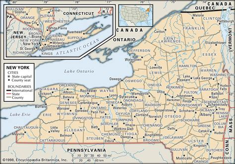 map of ny state and county maps of new york