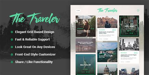 wordpress themes not blog the traveler responsive wordpress blog theme no warez