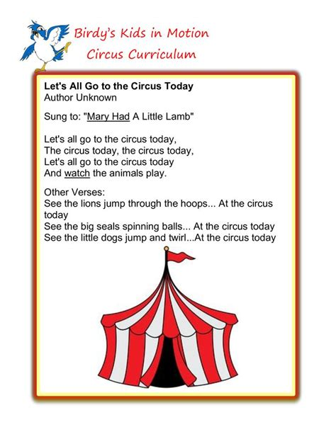 theme songs for kindergarten 89 best images about carnival circus preschool theme on