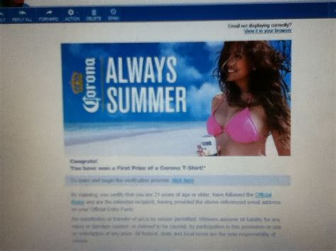Corona Summer Sweepstakes - first prize winner in the corona summer 2015 sweepstakes won a corona t shirt