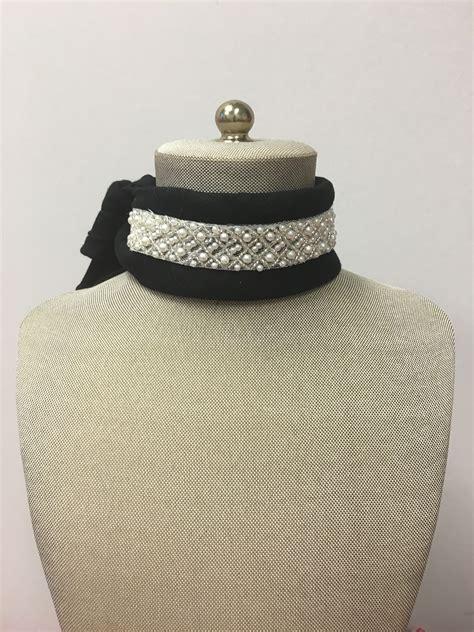 Galleria Plain Black Choker bandanna chokers chokers